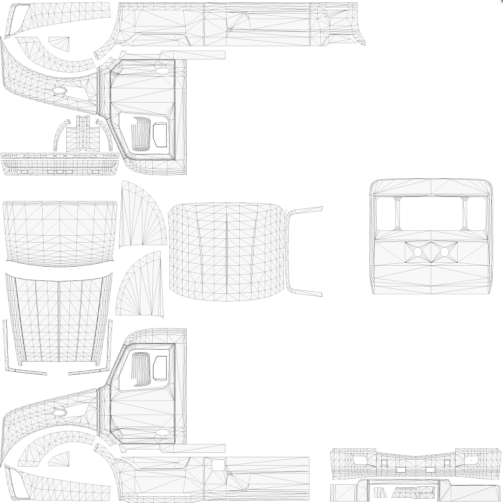 Peterbilt drawing. Template templates x skin