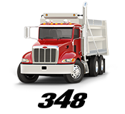 Peterbilt drawing gallery. Model features specification trucks