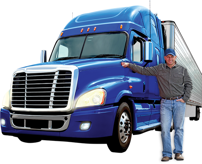 Semi drawing freight truck. North american council for
