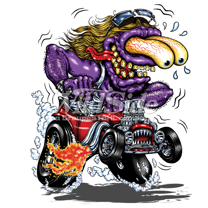 Peterbilt drawing hot rod. Purple monster red the