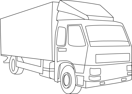 transport drawing freight truck