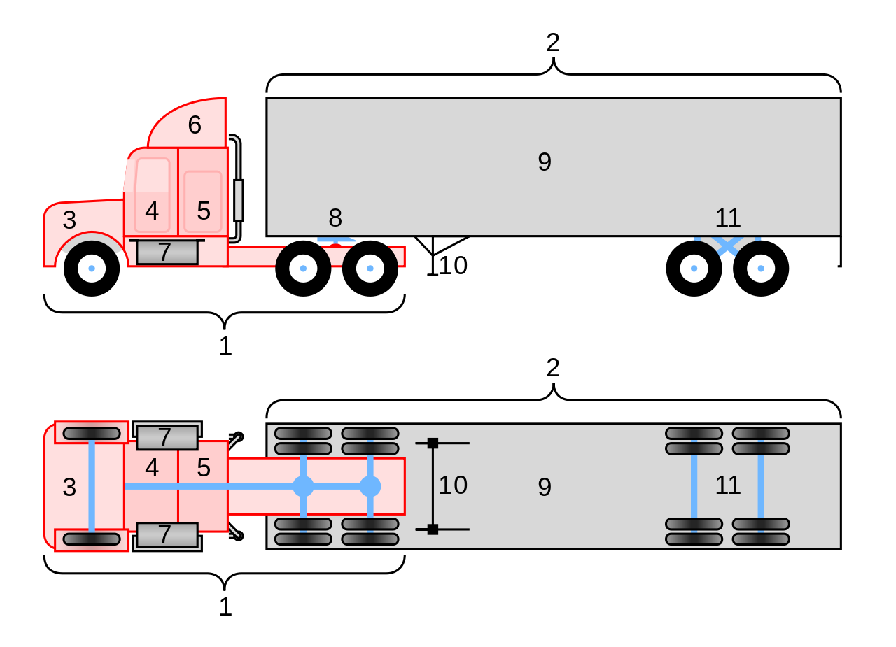 Peterbilt drawing side view. File conventional wheeler truck