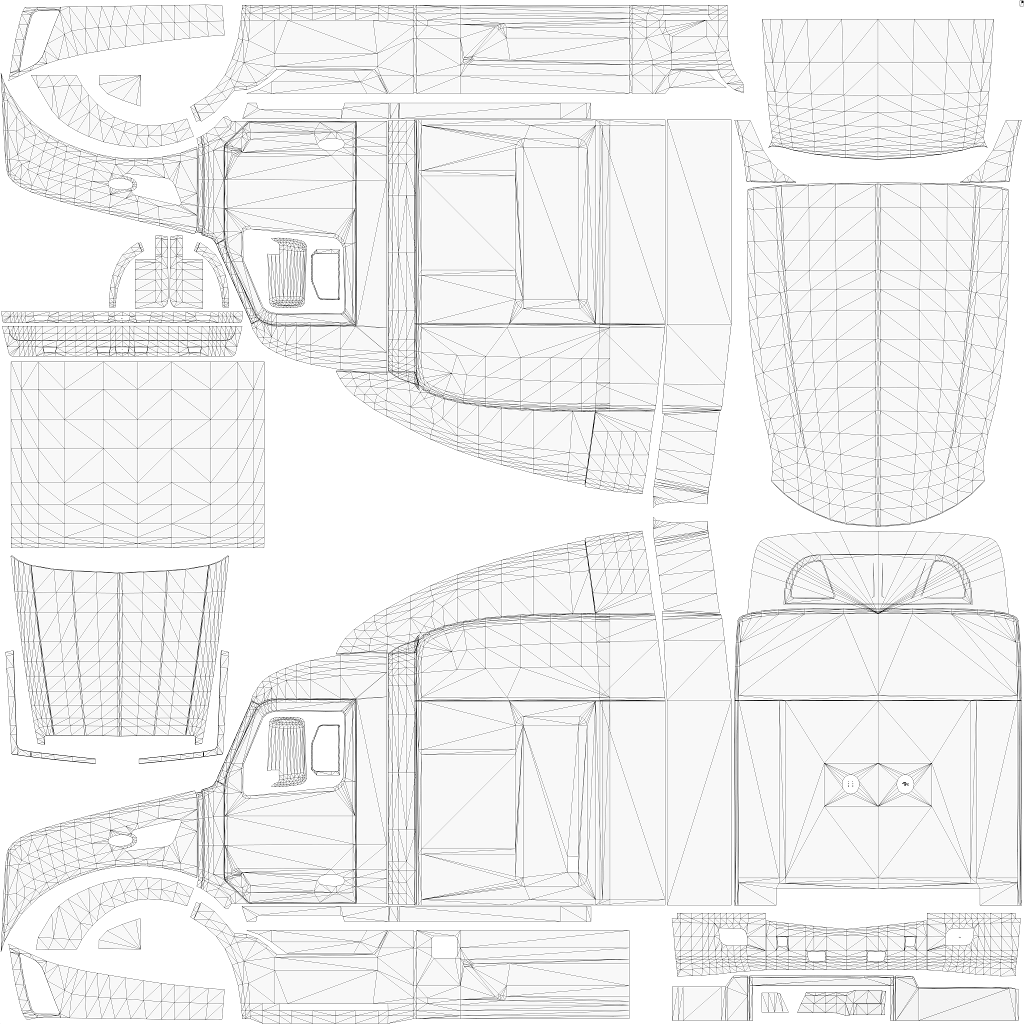 Peterbilt drawing art. Template templates x skin