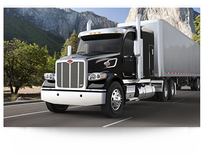 Peterbilt drawing style. Model heritage features specification