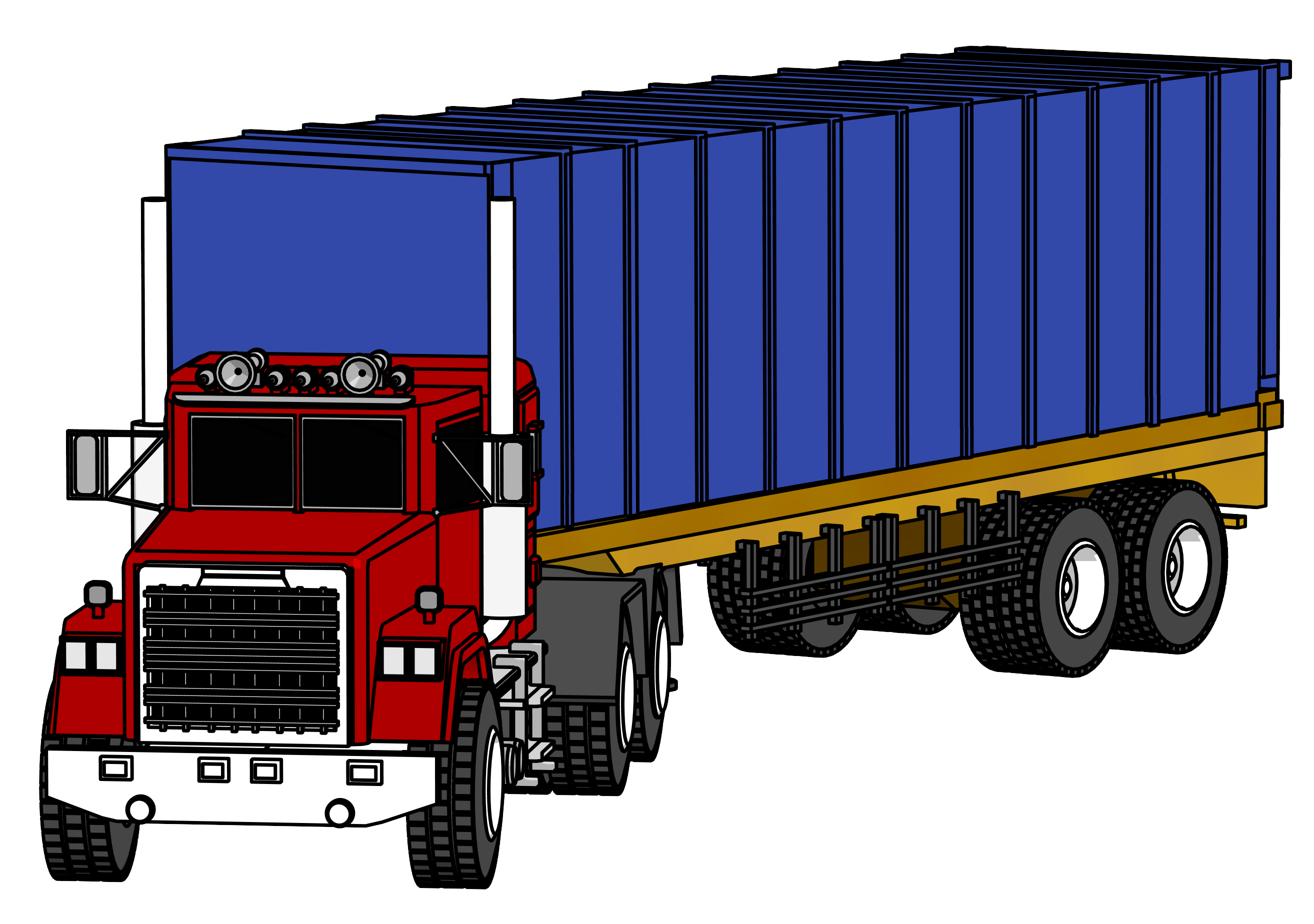 wheeler truck clipart. Trucking vector file image black and white