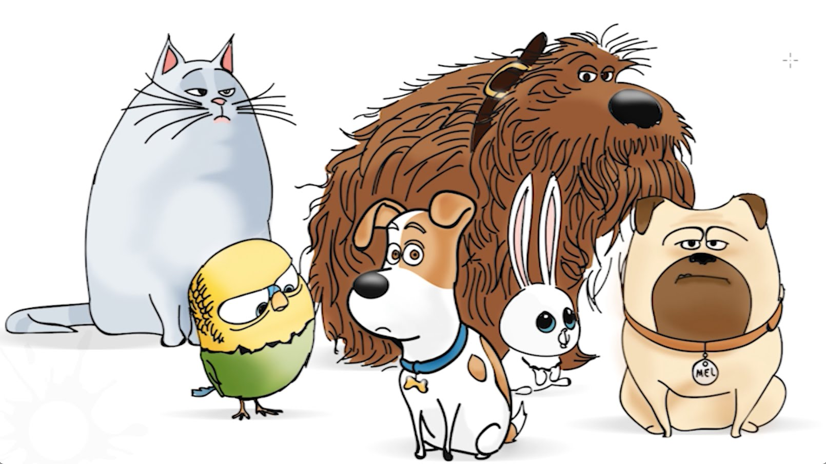 Pets clipart secret life pets. Of speed drawing youtube