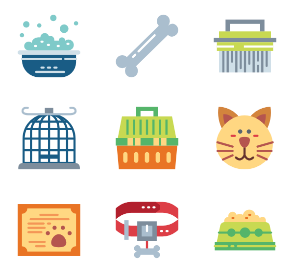 Healthy vector health insurance. Pet icons free pets