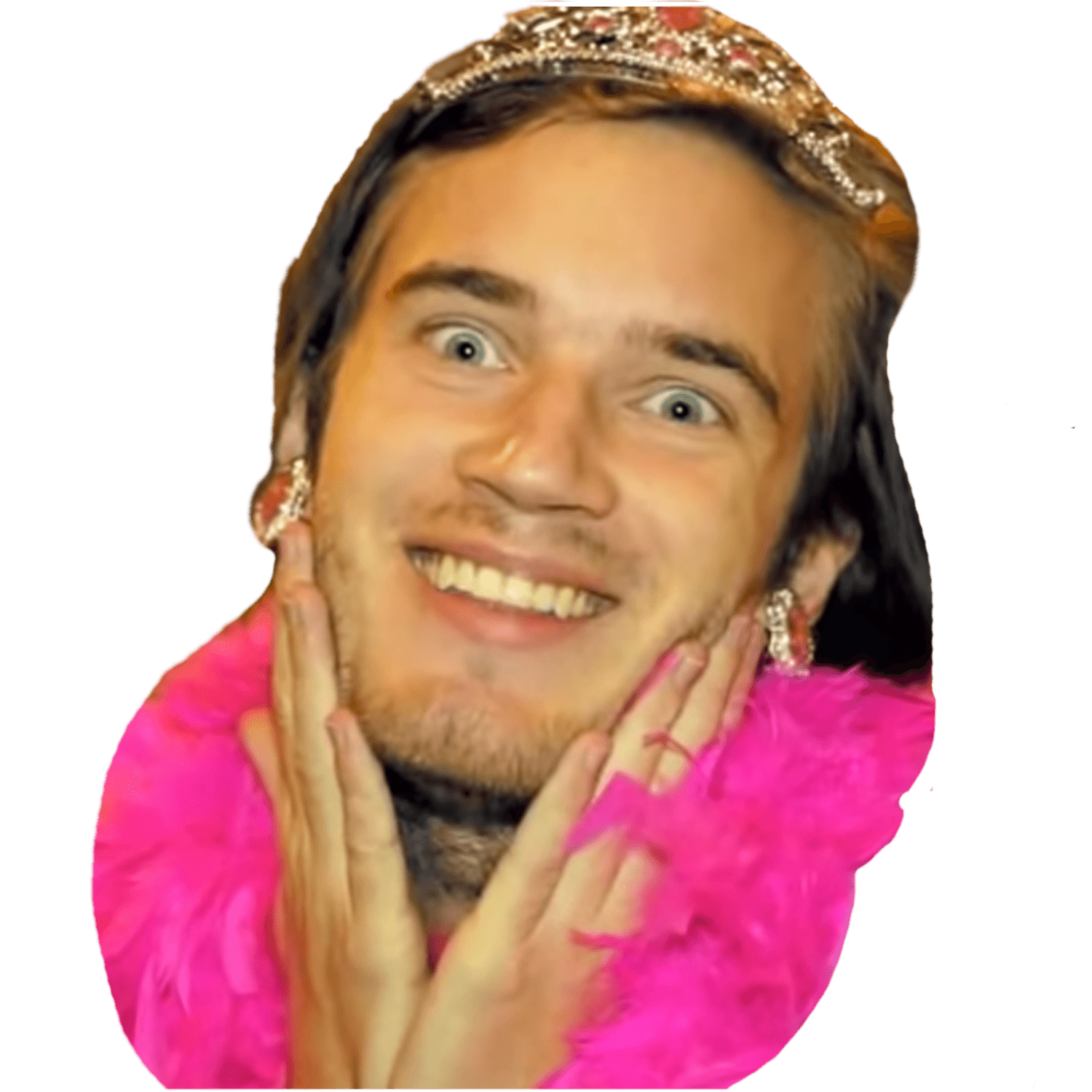 Pewdiepie png. Transparent images stickpng girly