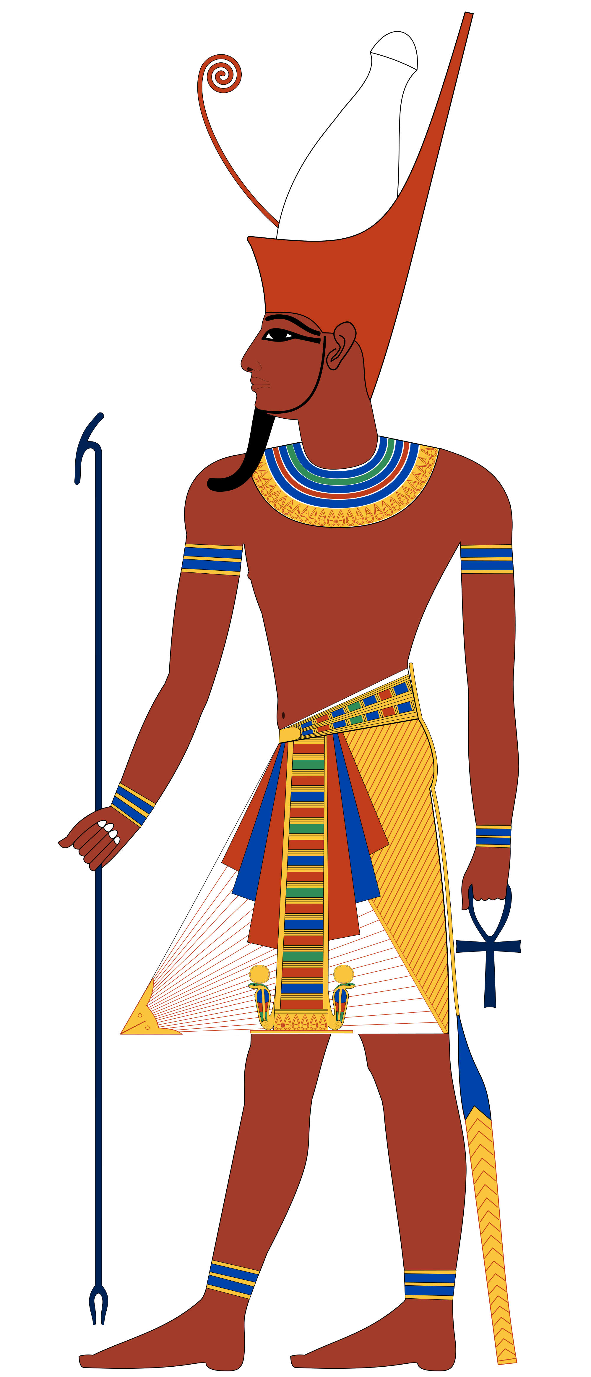 Pharaoh vector. File with double crown