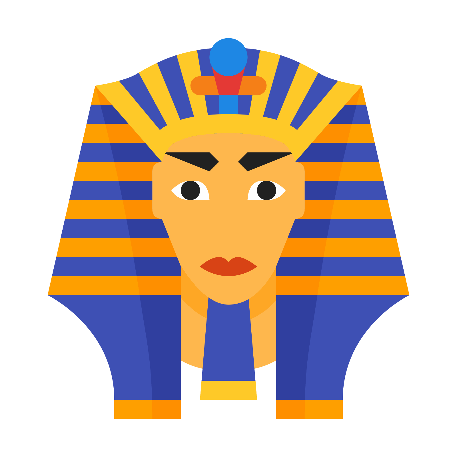 Pharaoh vector. Icon free download png