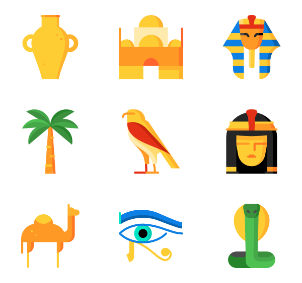 Pharaoh vector. Icons free egypt and