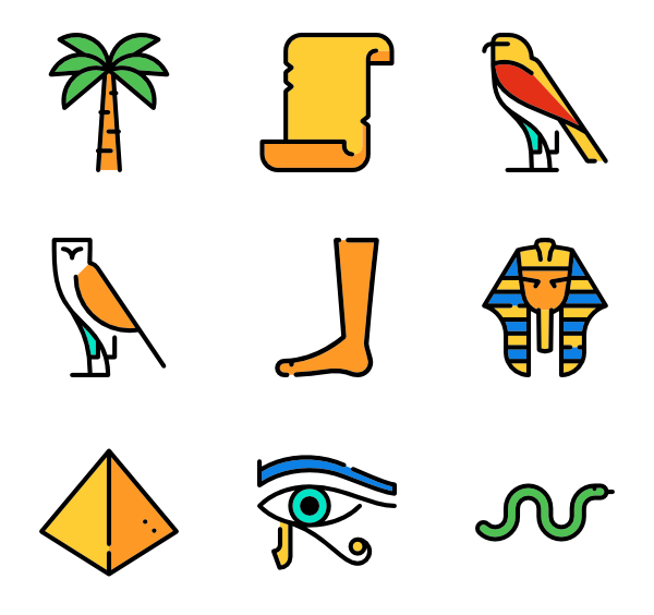 Symbols vector egyptian