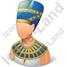 Pharaoh vector gangster. Ancient egyptian female icon