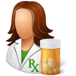 People female icon medical. Pharmacist clipart banner freeuse library