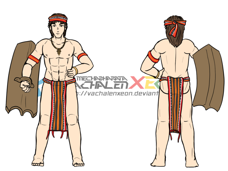 Philippines drawing attire. Collection of ifugao