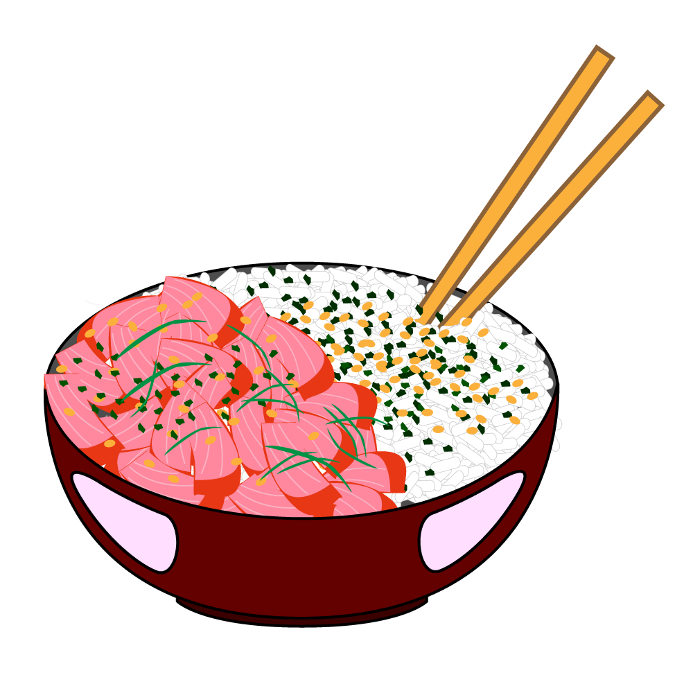 Pho vector bowl. Poke and rice illustrator
