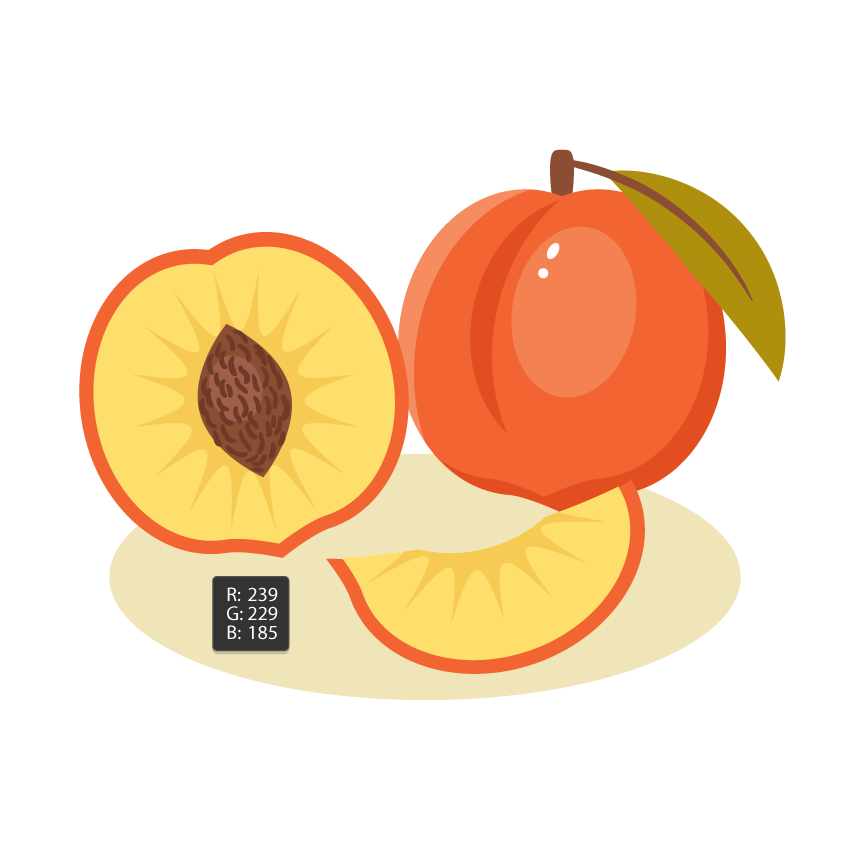 Drawing shade food. How to create a