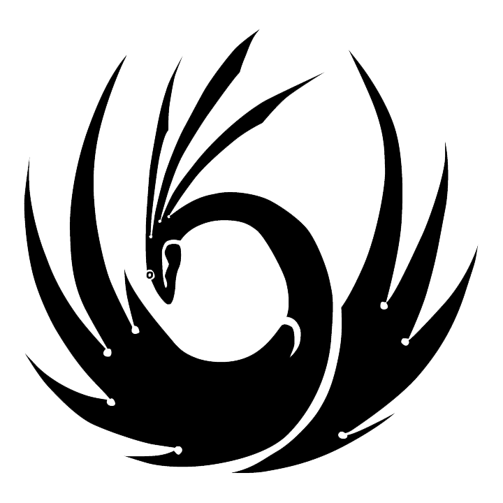 Phoenix black and white png. Transparent images all free