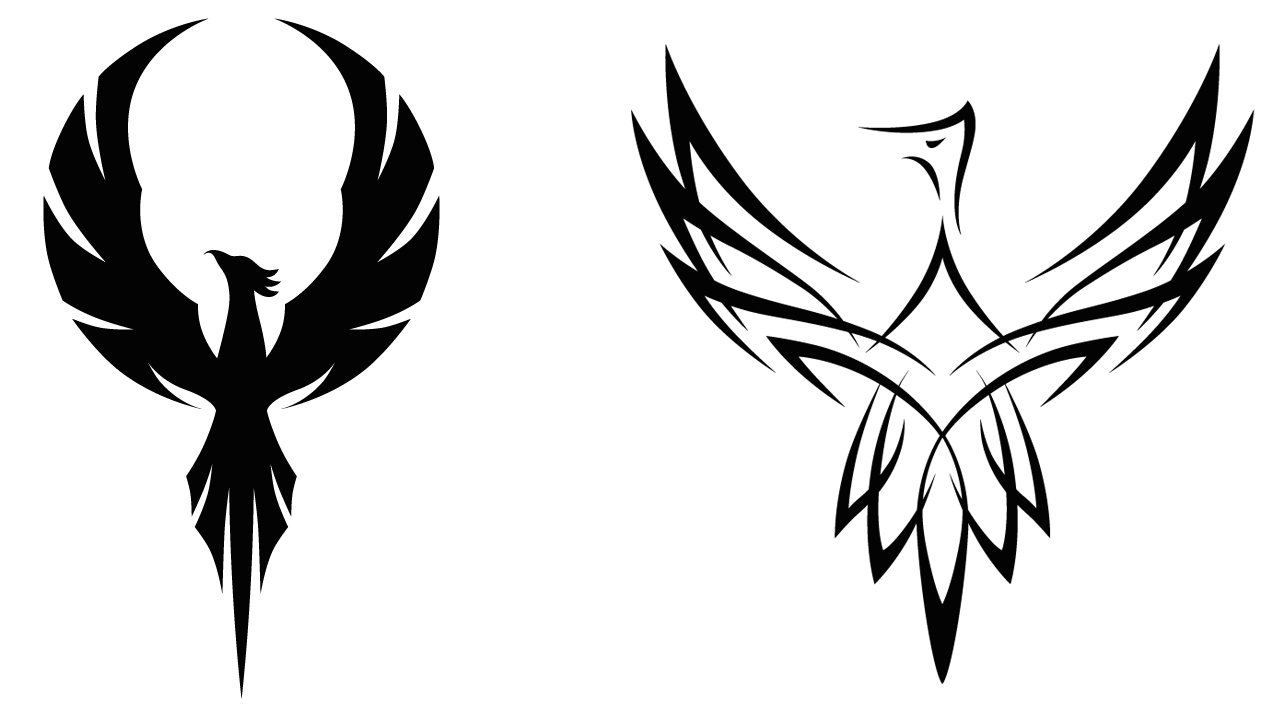 Phoenix black and white png. Collection of clipart