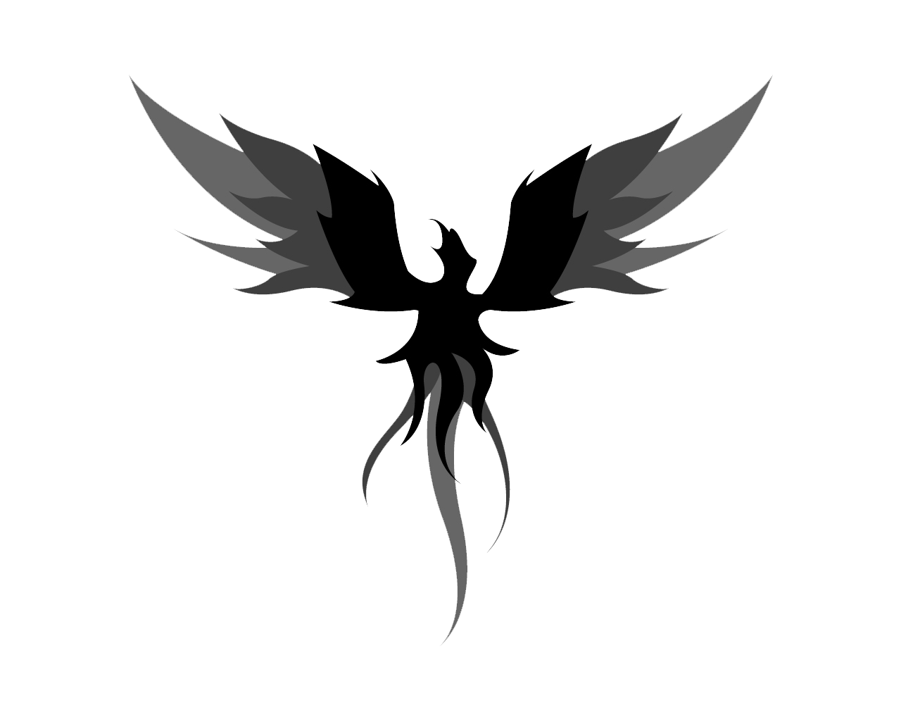 Phoenix Black And White Transparent Png Clipart Free Download Ya