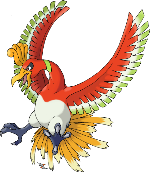 Phoenix clipart fawkes. Ho oh is based