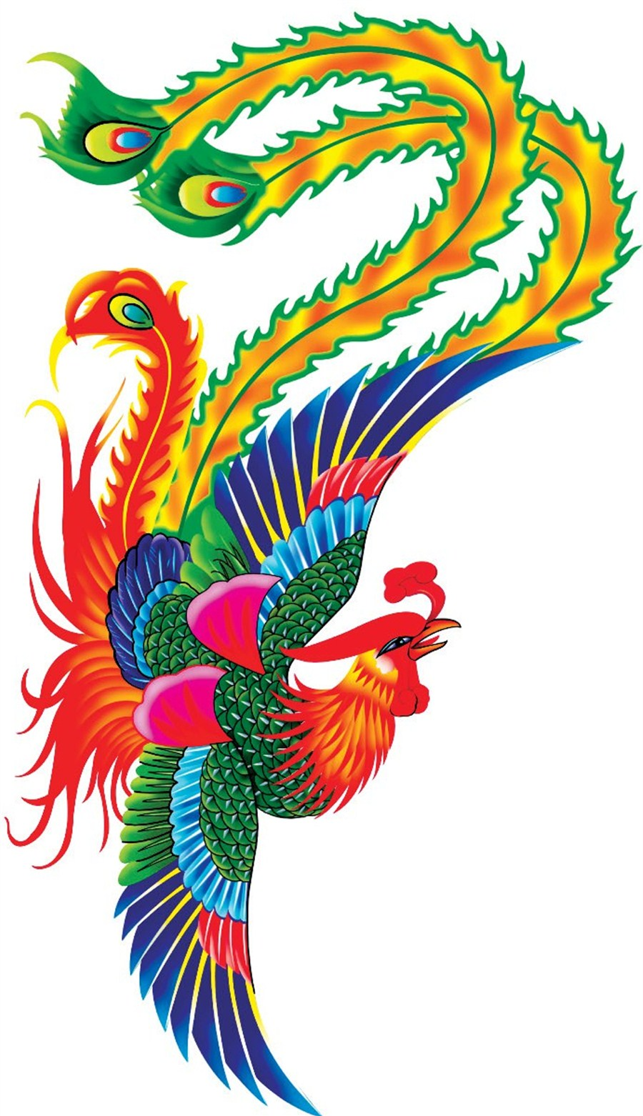 Phoenix clipart phoenix chinese. Leaves mark on culture