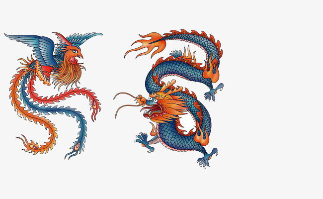 Phoenix clipart phoenix chinese. Dragon material style png