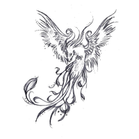Phoenix drawing png. Download tattoo sleeve legendary