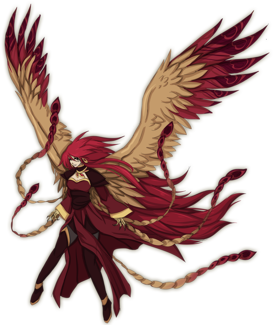 Phoenix drawing png. Download anime transparent image