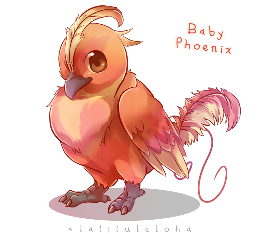 Phoenix drawing png. Myth creature babies by