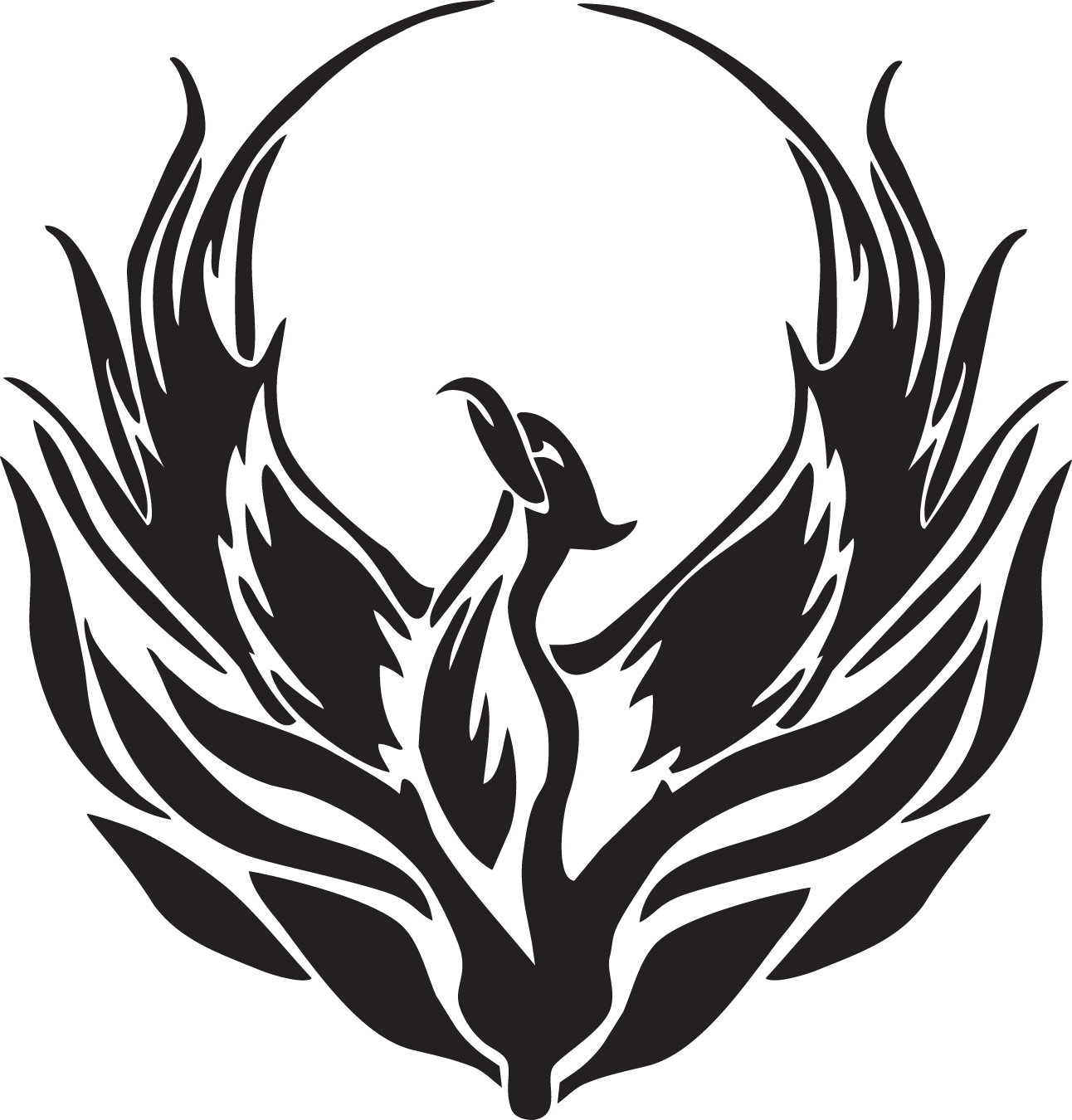 Phoenix drawing png. Legendary creature symbol clip