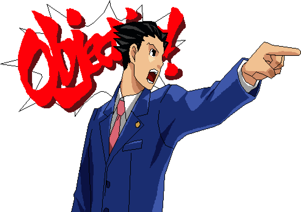 Phoenix wright objection png. Download x
