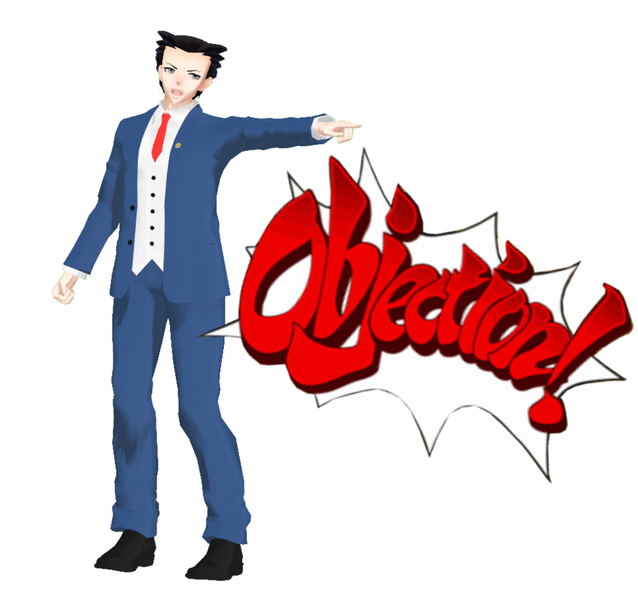 Phoenix wright objection png. Mmd ace attorney by