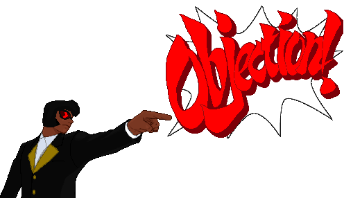 Phoenix wright objection png. By crown it all