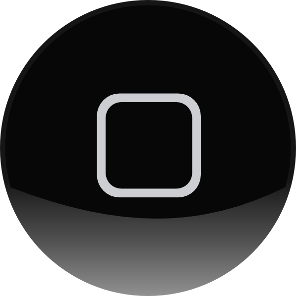 Phone buttons png. Iphone home button clip