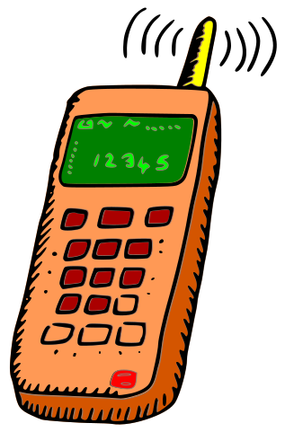 Phone clipart. Ringing mobile with