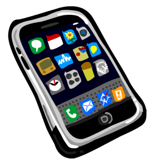 Phone clipart mobile phone user. Free cell clip