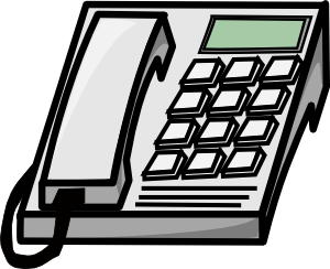 phone clipart office phone