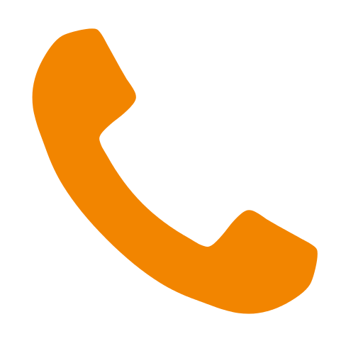 phone clipart orange