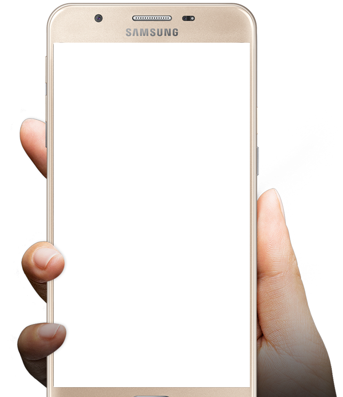 Phone frame png. In hand image purepng