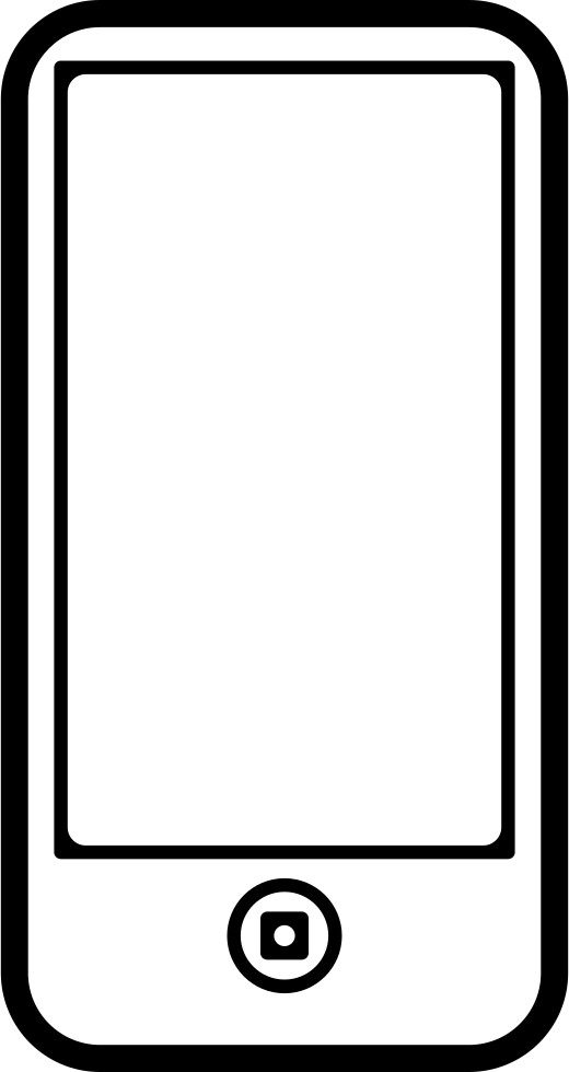 Phone outline png. Mobile with one circular