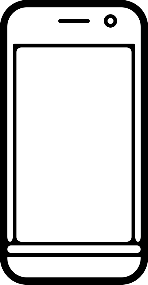 Phone outline png. Mobile svg icon free