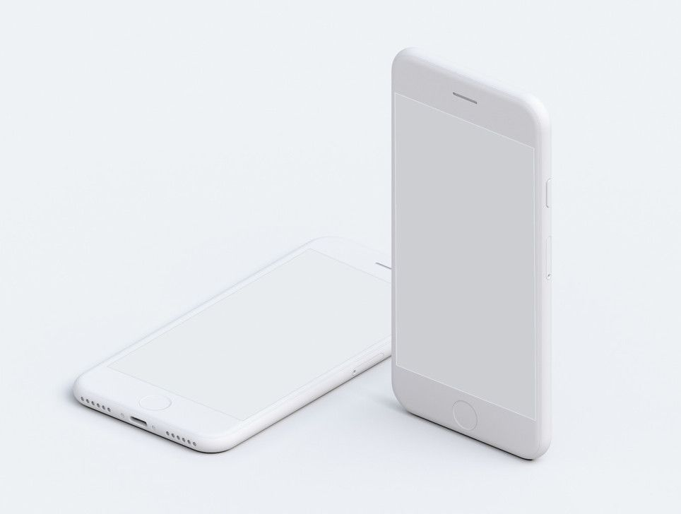 Phone ui photorealistic. Products simple mockups mobile