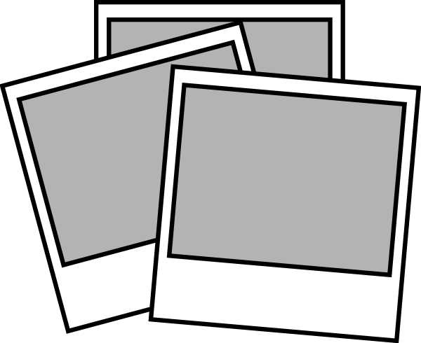 Polaroid picture clipart line art. Instant photos clip at