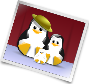 Happy penguins family clip. Photo clipart image royalty free library