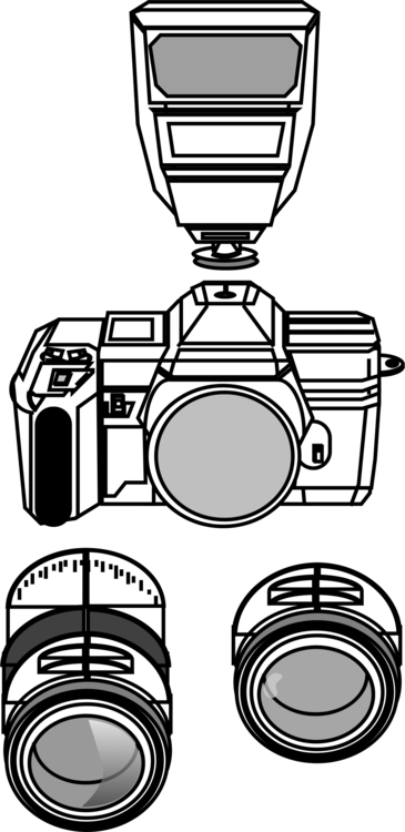 Clip cameras line drawing. Computer icons camera art