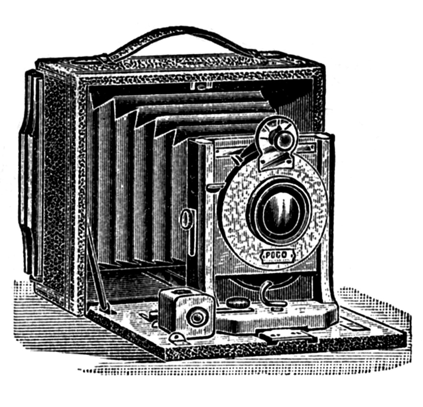 Antique pictures stereoscope ear. Photo clipart vintage camera vector black and white library