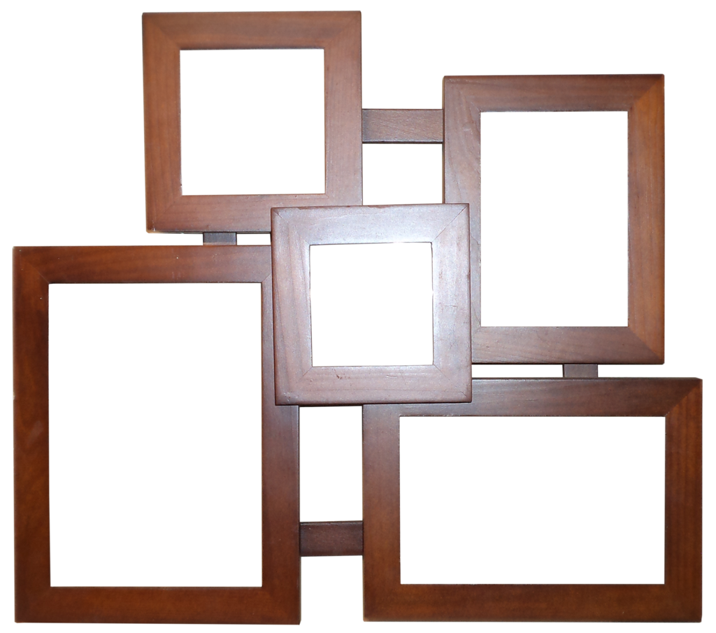Frame clip collage. Wooden hb by on