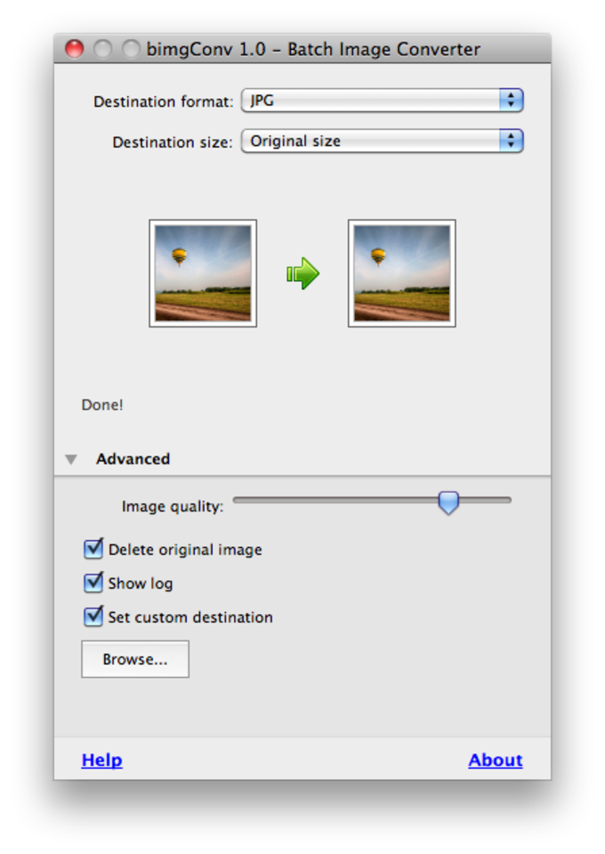 Photo converter png to jpg. Batch image for mac