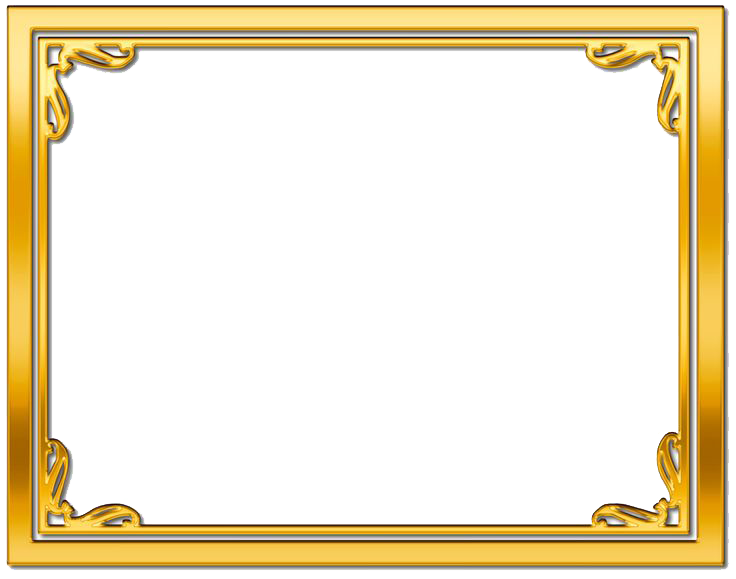 Gold frame transparent images. Png photo frames free